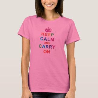 """T-shirt féminin «Keep Calm and Carry on """""""