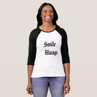 T-shirt féminin Smile Always