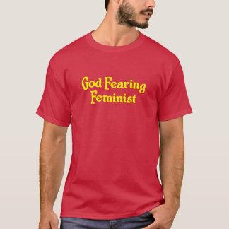 T-shirt Féministe très croyant