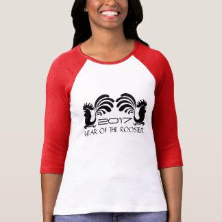 T-shirt Femme 2017 d'année de coq et pièce en t faites sur