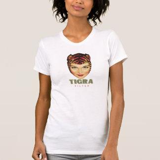 T-shirt femme de cigarette de tigra