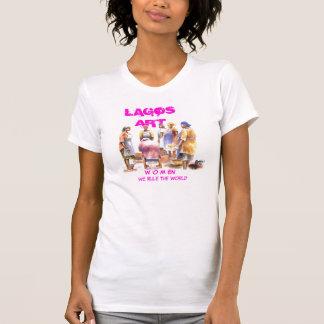 T-shirt femme de l'Africain 2, ART de LAGOS, en de W O M,