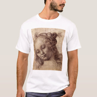 T-shirt Femme regardant vers le bas