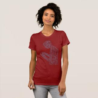 T-shirt Femmes américaines de prière (canneberge avec le