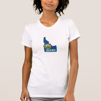 T-shirt Femmes de drapeau et de carte d'état de l'Idaho