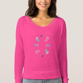 T-shirt Femmes de méduses outre de chemise d'épaule