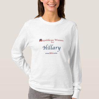 T-shirt Femmes républicaines pour Hillary