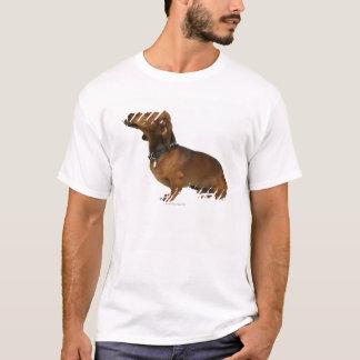 T-shirt Fermez-vous d'un teckel