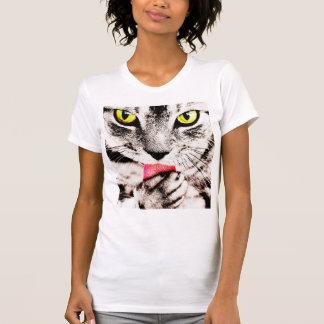 T-shirt féroce de chat tigré