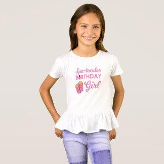 T-shirt Fête d'anniversaire du spa de la fille