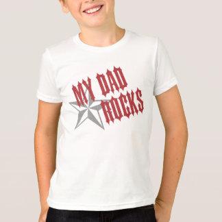T-shirt Fête des pères de ~ de papa de vedette du rock