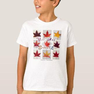 T-shirt Feuillage d'automne de feuille d'érable 'vous êtes