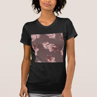 T-shirt feuille brun