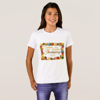 T-shirt Feuille coloré de bon thanksgiving vintage