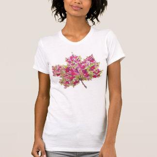 T-shirt Feuille colorée abstraite d'automne d'aquarelle