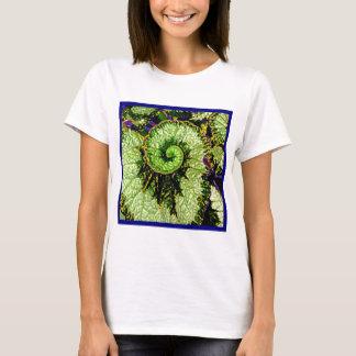 T-shirt Feuille de bégonia d'Escargot d'escargot par