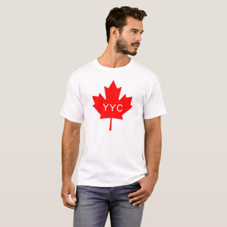 T-shirt Feuille d'érable - code d'aéroport de Calgary