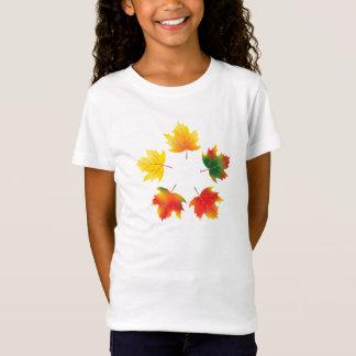 T-Shirt Feuille d'érable d'automne de vecteur