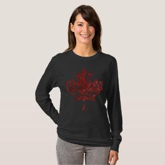 T-shirt Feuille d'érable en filigrane