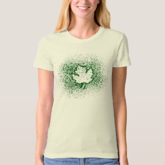 T-shirt Feuille verte de graffiti