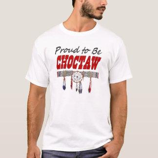 T-shirt Fier d'être chemise sans manche de Choctaw