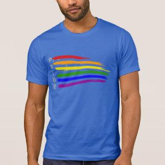 T-shirt Fierté de ondulation de drapeau d'arc-en-ciel