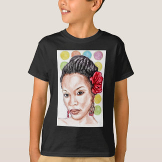 T-shirt Fille africaine