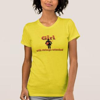 T-shirt Fille avec des ficelles jointes (électrique)