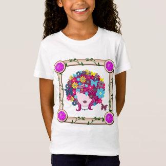T-Shirt Fille avec des fleurs et des papillons