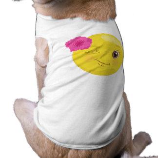 T-shirt Fille mignonne Emoji de Winky (floral)