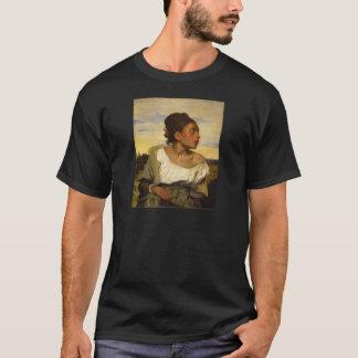 T-shirt Fille orpheline au cimetière par Eugene Delacroix