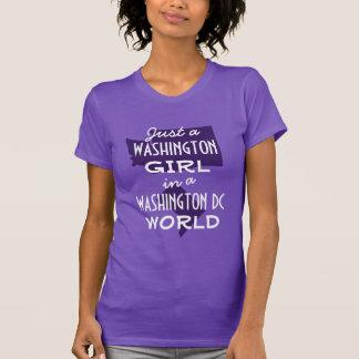 T-shirt Fille pourpre de l'état de Washington Dans le C.C