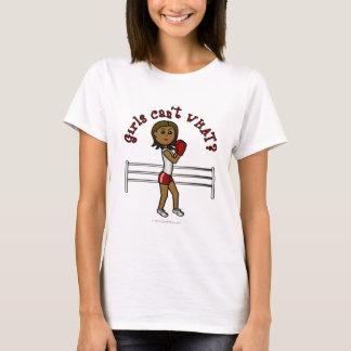T-shirt Fille rouge foncé de boxe