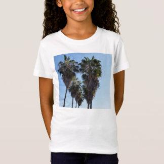 T-Shirt Filles de chemise de coeur de palmier d'amour de