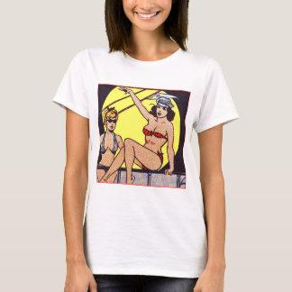 T-shirt Filles de pin-up comiques vintages de bikini de