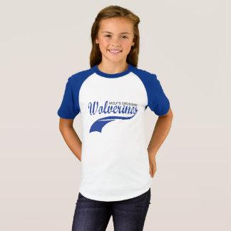 T-shirt Filles de raglan de base-ball de Wolverines