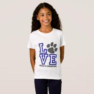 T-Shirt Filles du croisement du loup d'AMOUR