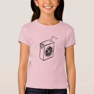 T-shirt Filles tee-shirt roses avec le jus