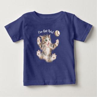 T-shirt fin du Jersey de bébé - Kitty espiègle