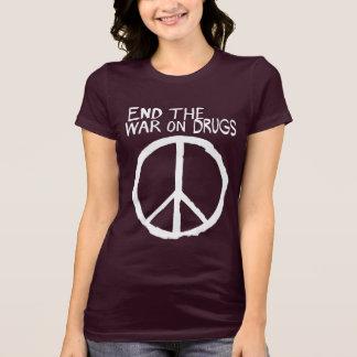 T-shirt Finissez la guerre échouée sur des drogues