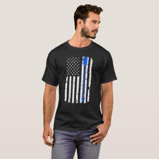 T-shirt Flèche de tir à l'arc et drapeau américain