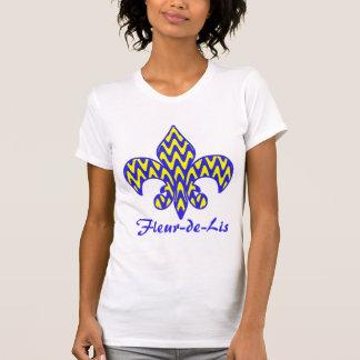 T-shirt Fleur bleu et jaune de lis