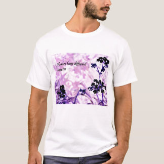 T-shirt Fleur de BlackPurple