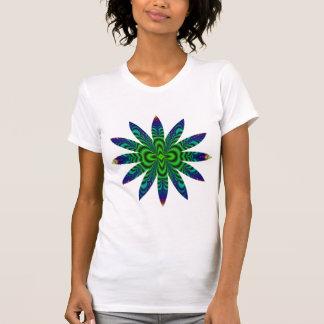 T-shirt Fleur de tube de l'espace de fractale de trou de