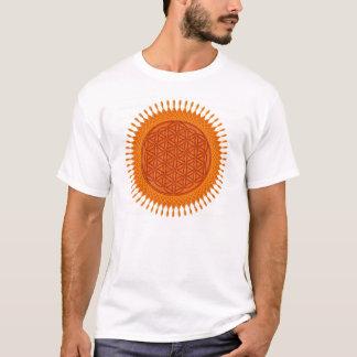 T-shirt Fleur Live/de conception ensoleillée