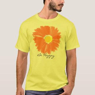 T-shirt Fleur orange lumineuse