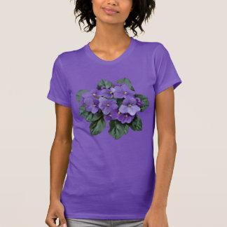 T-shirt Fleur pourpre de jardin de violette africaine