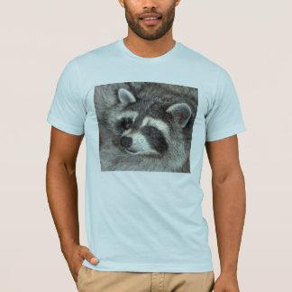 T-shirt Fleurissent le raton laveur remarquable