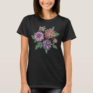 T-shirt Fleurs brodées de dahlia