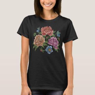 T-shirt Fleurs brodées de pivoine